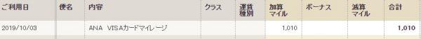 ワールドプレゼント→ANAマイル8