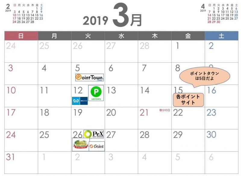 LINEポイントルートスケジュールカレンダー