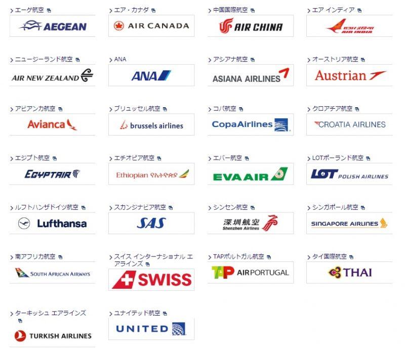 提携航空会社