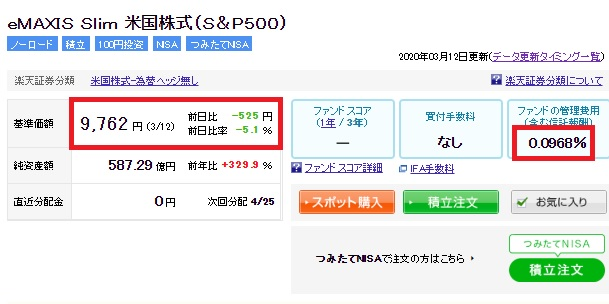 20200313S&P500を10万円5